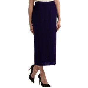 St John Maxi Ankle Length Black Knit Skirt Sz 8